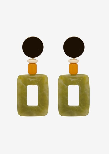 Bae Bae Green Chalcedony Earrings