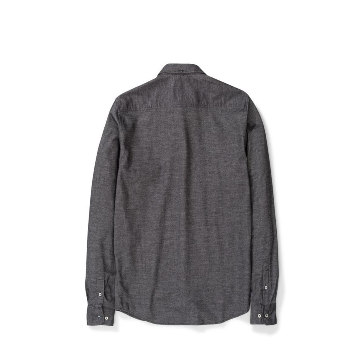 f8468c8f36f Norse Projects Anton Brushed Flannel SHIRT - Magnet Grey | Garmentory
