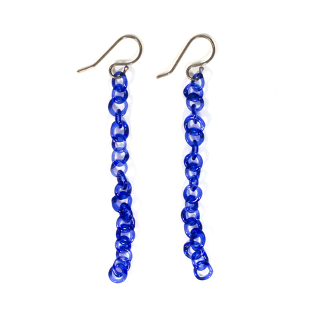 JANE D'ARENSBOURG TINY CHAIN - COBALT