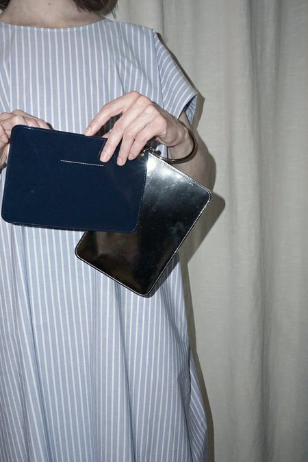 MM6 Two Piece Wallet - Navy/Silver