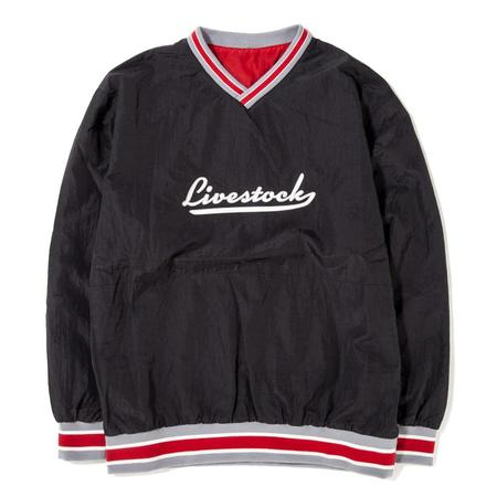 Livestock Reversible Warm Up Pullover - Black/Red