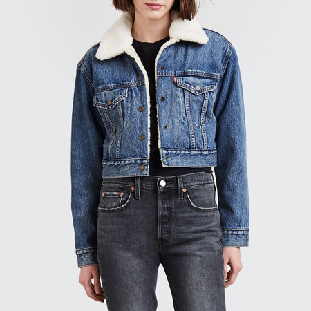 Levi's Premium Cropped Sherpa Trucker - Fight or Flight