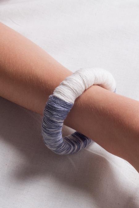 Jen Cogliantry Wrapped Bracelet - Blue/White Two-Toned