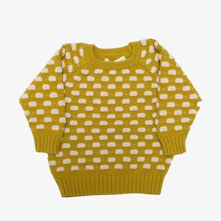 Kids Micaela Greg Raised Dot Sweater - Mustard