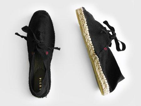Espadrilles with Laces - Black
