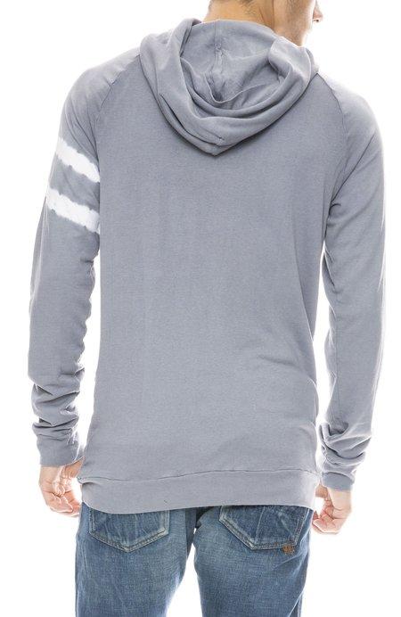 MITCHELL EVAN Bamboo Pullover Tie Dye Sleeve Hoodie - GREY