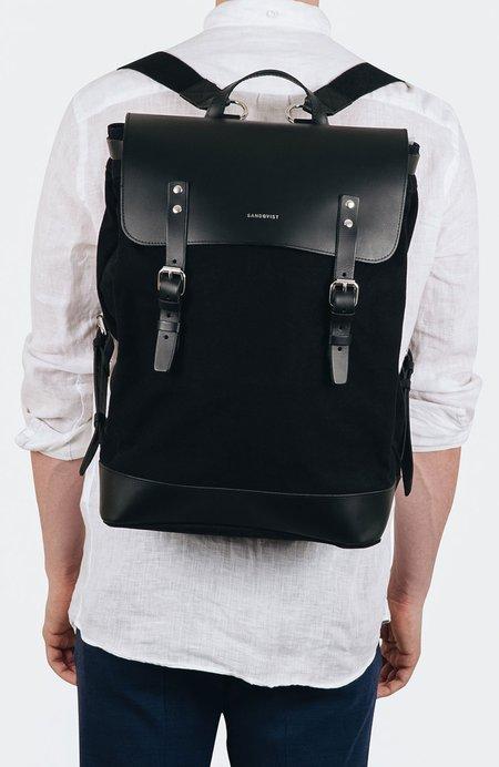 Sandqvist Hege Canvas Backpack - BLACK