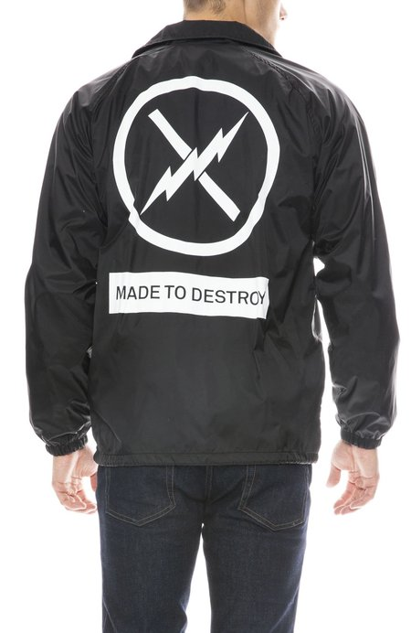 FACT Made to Destroy Coach Jacket - BLACK