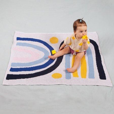 Slowdown Studio Rainbow Twins Mini Blanket