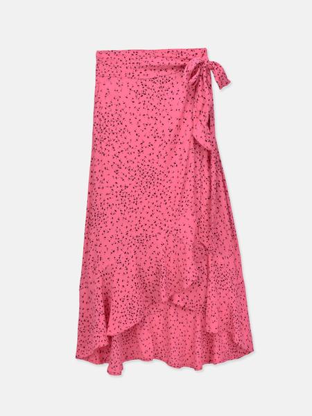 Ganni Barra Crepe Skirt - Hot Pink