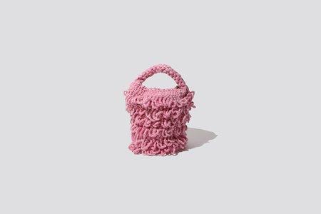 Mozh Mozh Crochet Tassel Bag - Pink