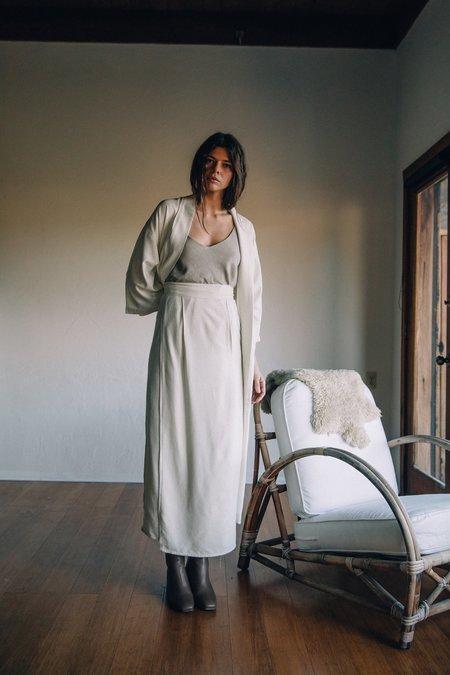 Ozma Blanket Herringbone Noil Skirt