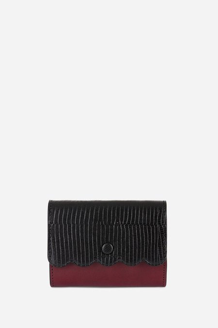 Vanessa Bruno Card Wallet -  Noir/Burgundy