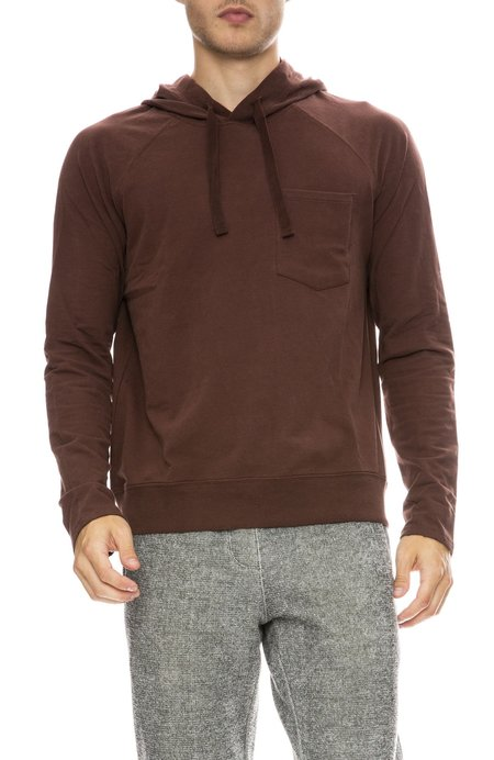 ATM Brushed Fleece Pullover Hoodie - Wine