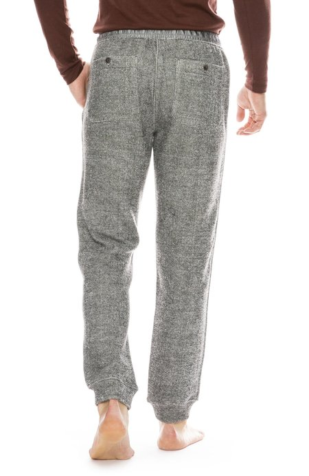ATM Double Faced Knit Sweatpant - BLACK/CHALK COMBO