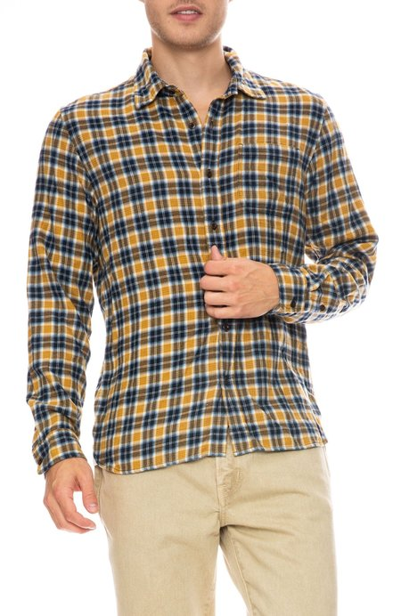 Outerknown Transitional Flannel Shirt - HARVEST CAMPSITE PLAID