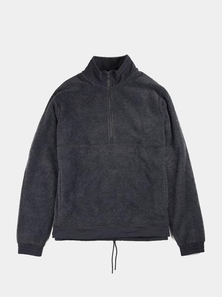 Reigning Champ Polartec® Fleece Half Zip Pullover - Charcoal