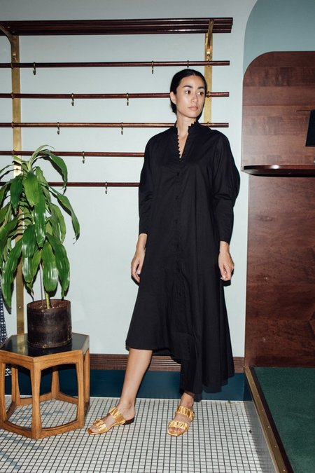 Apiece Apart Mare Zigzag Dress - Black