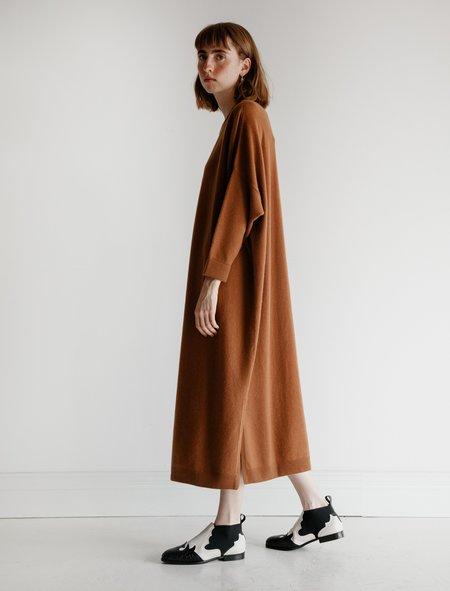 Dusan Cashmere Crewneck Dress - Caramel
