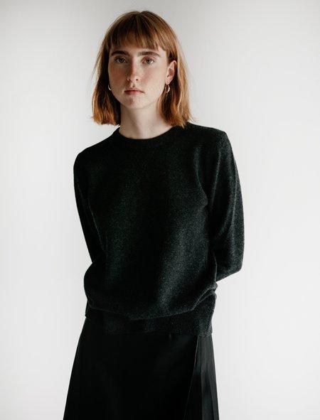 Sunspel Knit Sweatshirt - Charcoal