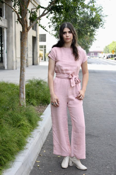 Damaris Bailey Sofia Jumpsuit - Soft Blush
