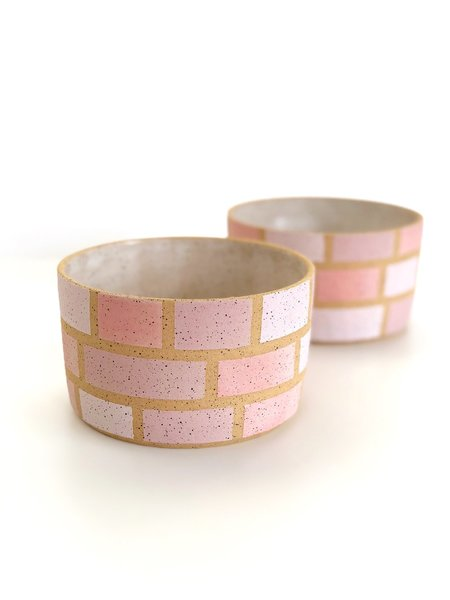 Mary Carroll Planter - Pink Squares