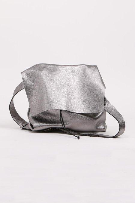 Stitch and Tickle Medium Bolsa bag - Gunmetal