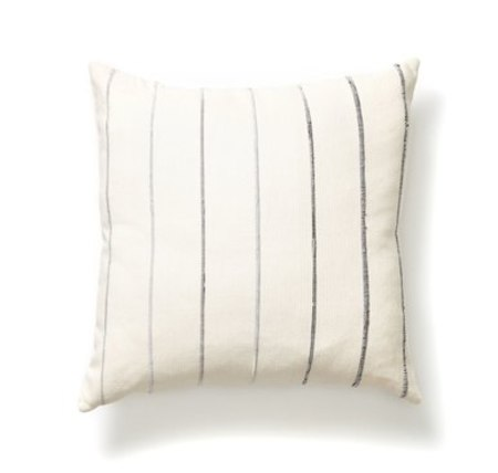MINNA recycled stripe pillow - grey