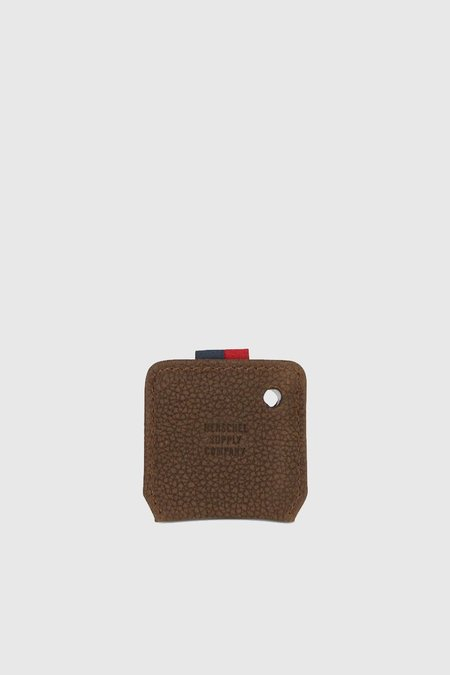 HERSCHEL SUPPLY CO Keychain - Tile/Brown Pebbled Nubuck