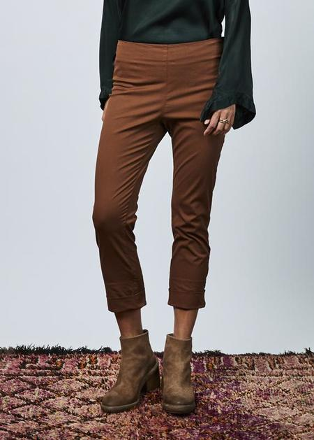 Hache Side Zip Cuff Pant - Copper