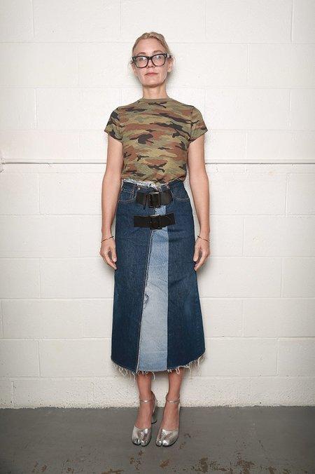 Needles Wrap Skirt - Blue