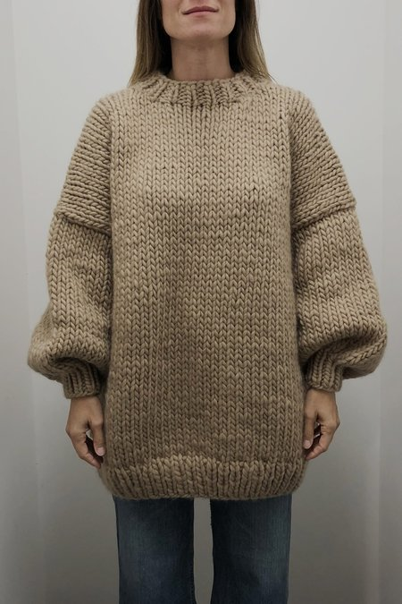 I love Mr Mittens Striped Crew Neck Sweater - Taupe