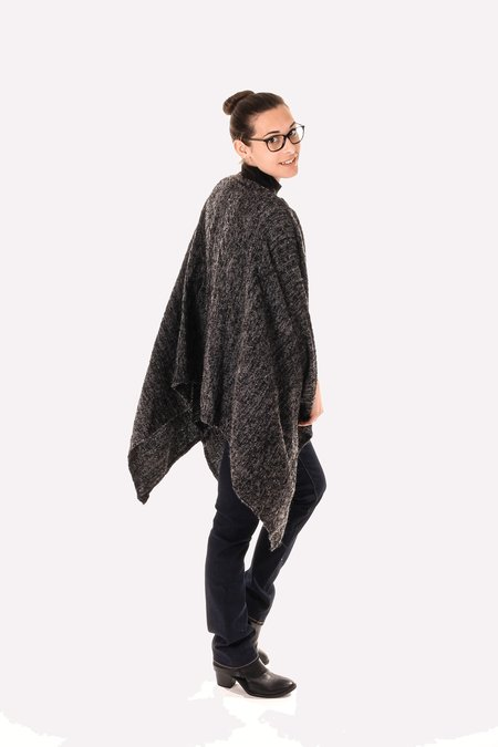 Spratters and Jayne Woven Poncho - Charcoal