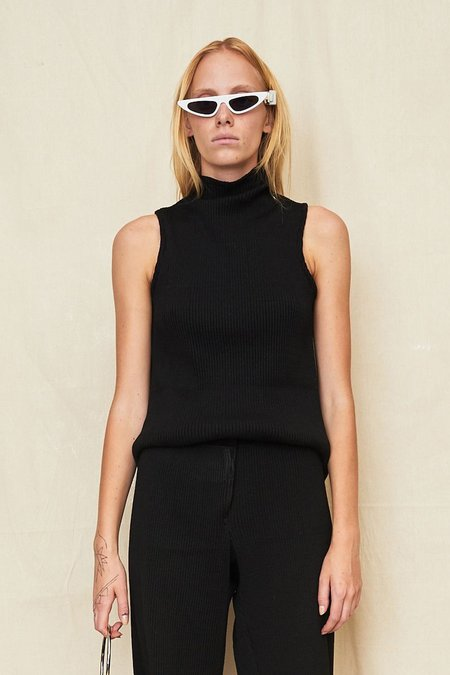 Assembly New York Sleeveless Turtleneck - Black Rib