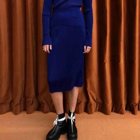 Priscavera Cotton Pleated Skirt - Deep Violet