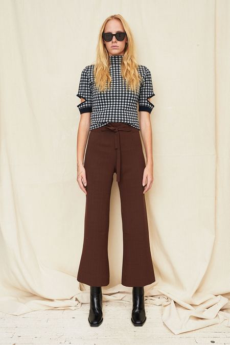 Assembly New York High Waist Tie Pant - Plaid
