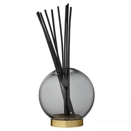 AYTM Large Globe Vase - Smoked Grey/Brass