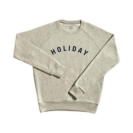Unisex Holiday Blue Logo Sweatshirt - GREY
