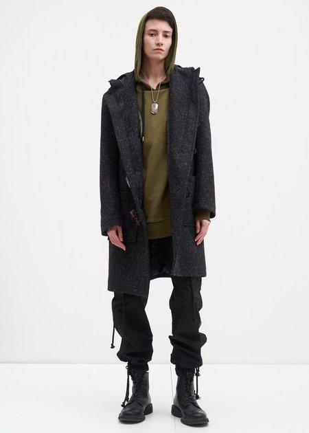 Matthew Miller Grey Duffle Coat w/ Marble Toggles