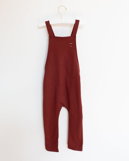 Kids Gray Label Salopette - Burgundy