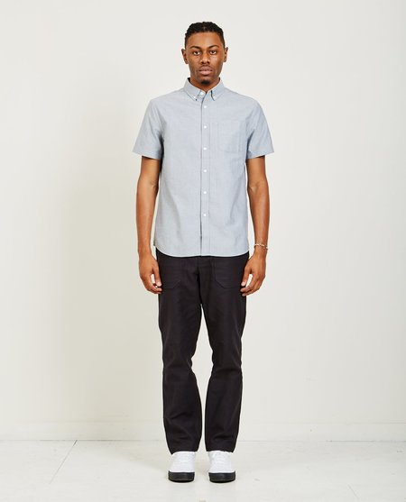 Saturdays ESQUINA OXFORD SHIRT - CHARCOAL