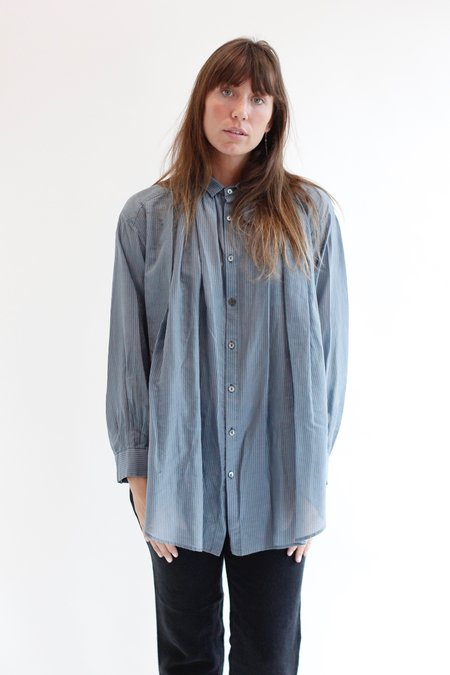 Pas De Calais Blouse 6909 - Blue/Grey