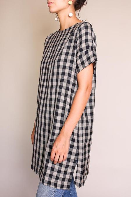 Umber & Ochre Sack Dress - Wool Plaid