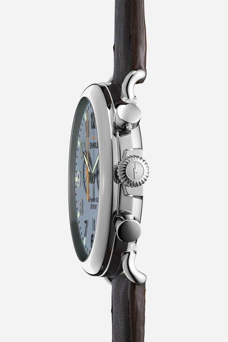 Shinola Runwell 47mm Watch - Slate Blue/Brown
