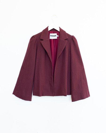 Town Clothes Regina Jacket - Merlot