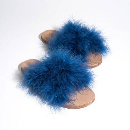 Brother Vellies Marabou Lamu Sandal - INDIGO