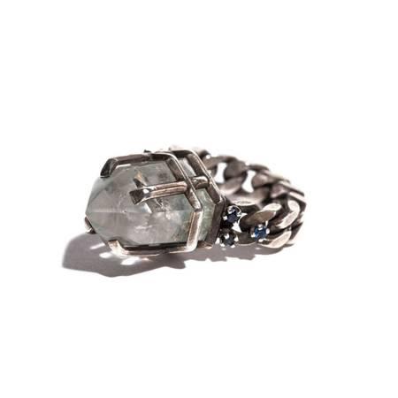 Unearthen Jewelry Phynix Ring - Green Chlorite Quartz/Sapphire/Silver