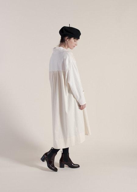 Sunja Link Mixed Pullover Dress - Cream