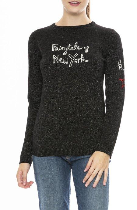 Bella Freud Fairytale of New York Sparkle Sweater - Black