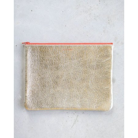 Tracey Tanner Large Flat Zip Pouch - Blonde Gold Persimmon
